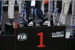 Sebastien Ogier (Volkswagen), Julien Ingrassia, Jari-Matti Latvala (Volkswagen) und Andreas Mikkelsen (Volkswagen II)