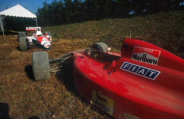 Alain Prost Ferrari Scuderia Ferrari F1McLaren McLaren Mercedes F1 ~Ayrton Senna und Alain Prost in Suzuka 1990 ~