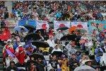 Regen in Suzuka am Donnerstag