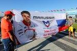 Plakat mit Wünschen für Jules Bianchi (Marussia)