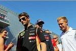Romain Grosjean (Lotus) und Kevin Magnussen (McLaren)