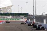Jean-Eric Vergne (Toro Rosso), Kevin Magnussen (McLaren), Sebastian Vettel (Red Bull) und Daniel Ricciardo (Red Bull)
