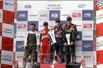Antonio Fuoco, Max Verstappen und Esteban Ocon