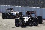 Daniil Kwjat (Toro Rosso) und Sergio Perez (Force India)