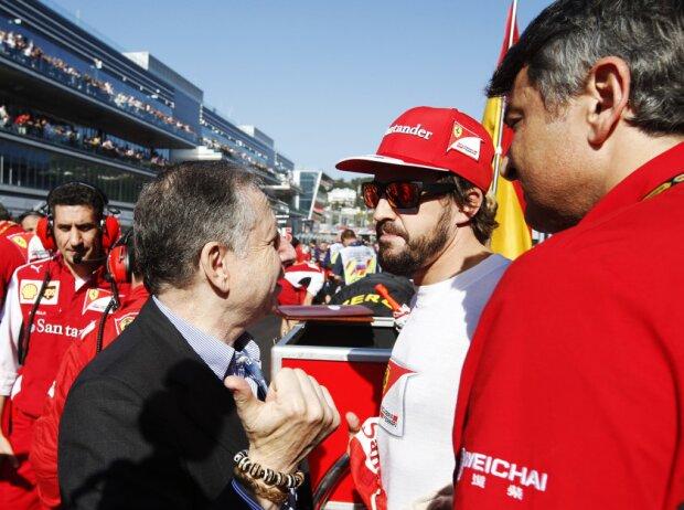 Jean Todt, Fernando Alonso, Marco Mattiacci