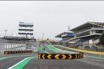 Neue Boxeneinfahrt in Interlagos