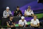 FIA-Pressekonferenz mit Jean-Eric Vergne (Toro Rosso), Felipe Massa (Williams), Nico Rosberg (Mercedes), Adrian Sutil (Sauber), Pastor Maldonado (Lotus) und Kevin Magnussen (McLaren)