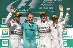 Lewis Hamilton (Mercedes), Nico Rosberg (Mercedes) und Felipe Massa (Williams)