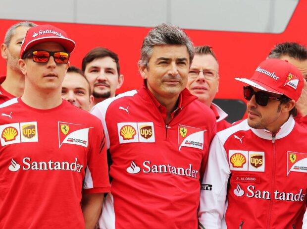Marco Mattiacci, Fernando Alonso, Michael Schumacher, Kimi Räikkönen