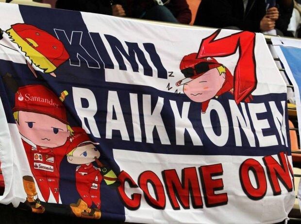 Kimi Räikkönen, Banner, Flagge