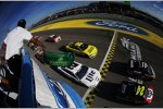 Start zum Ford EcoBoost 400 mit Jeff Gordon (Hendrick) und Kurt Busch (Stewart/Haas) in Reihe eins