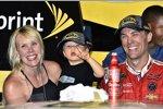 Kevin Harvick mit Ehefrau DeLana und Sohn Keelan