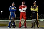 Die NASCAR-Champions 2014: Kevin Harvick (Sprint-Cup), Chase Elliott (Nationwide) und Matt Crafton (Trucks)