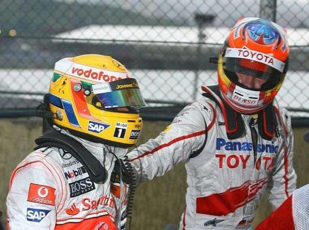 Lewis Hamilton und Timo Glock