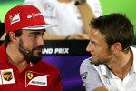 Fernando Alonso (Ferrari) und Jenson Button (McLaren)