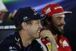 Sebastian Vettel (Red Bull) und Fernando Alonso (Ferrari)
