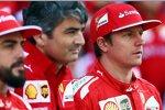 Fernando Alonso (Ferrari), Marco Mattiacci und Kimi Räikkönen (Ferrari)