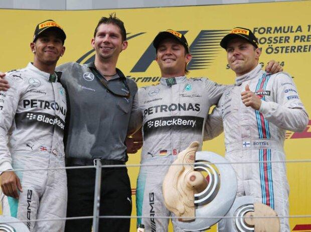 Nico Rosberg, Lewis Hamilton, Valtteri Bottas