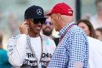 Lewis Hamilton (Mercedes) und Niki Lauda