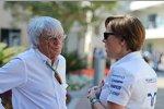 Bernie Ecclestone und Claire Williams