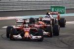 Fernando Alonso (Ferrari), Kimi Räikkönen (Ferrari) und Daniil Kwjat (Toro Rosso)