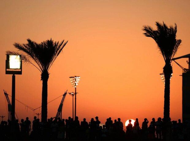 Sonnenuntergang in Abu Dhabi