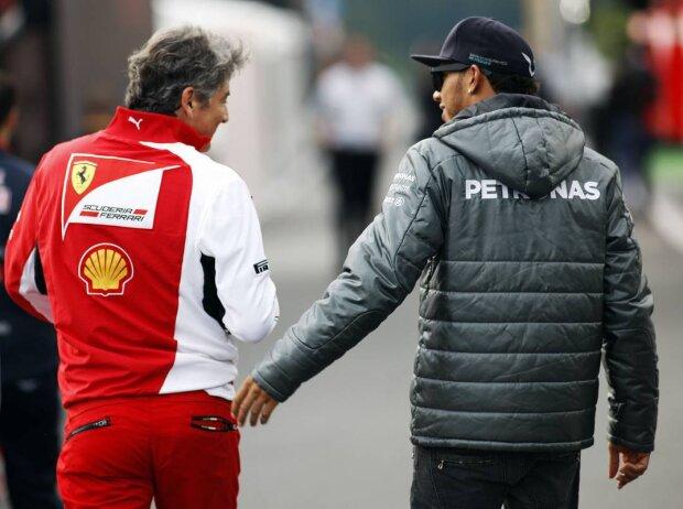 Marco Mattiacci, Lewis Hamilton
