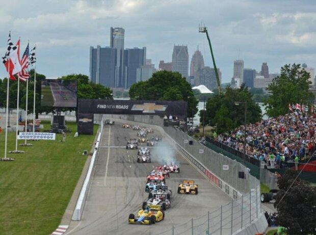 IndyCar Detroit Belle Isle Start 2013