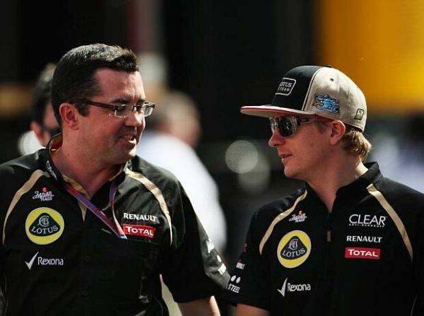 Eric Boullier und Kimi Räikkönen