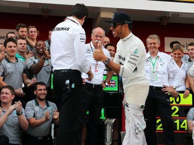 Lewis Hamilton, Toto Wolff, Dieter Zetsche