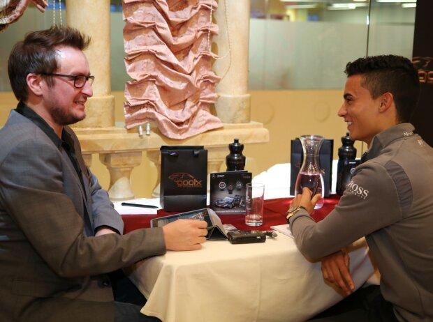 Chefredakteur Christian Nimmervoll und Pascal Wehrlein