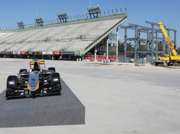 Force India, Baustelle