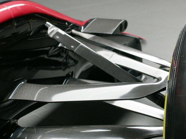 Vorderradaufhängung und Onboard-Kamera des McLaren-Honda MP4-30