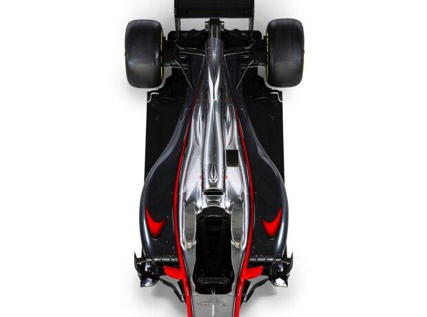 Kurze Seitenkästen und schmales Heck des McLaren-Honda MP4-30