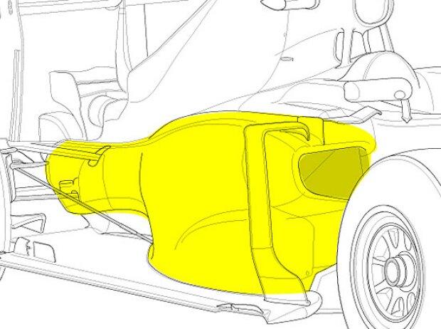 Seitenkasten des Red Bull RB11