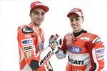 Andrea Dovizioso und Andrea Iannone (Ducati)