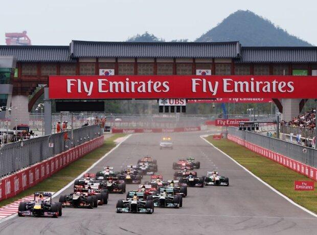 Start zum Grand Prix von Südkorea 2013 in Yeongam