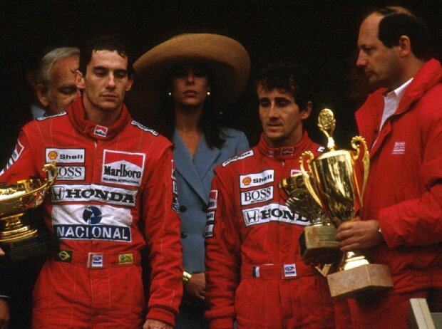 Ayrton Senna, Alain Prost, Ron Dennis