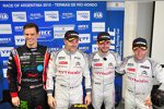 Tom Chilton (ROAL-Chevrolet), Yvan Muller (Citroen), Jose-Maria Lopez (Citroen) und Sebastien Loeb (Citroen)