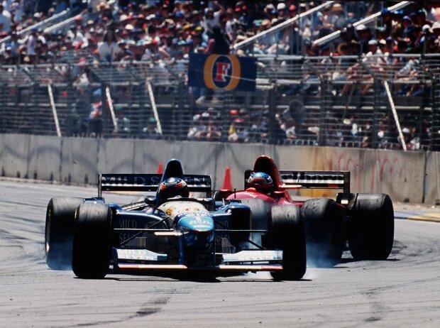 Michael Schumacher und Jean Alesi in Adelaide 1995