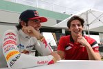 Carlos Sainz jun. (Toro Rosso) und Roberto Merhi (Manor Marussia)