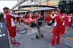 Ferrari übt Boxenstopps