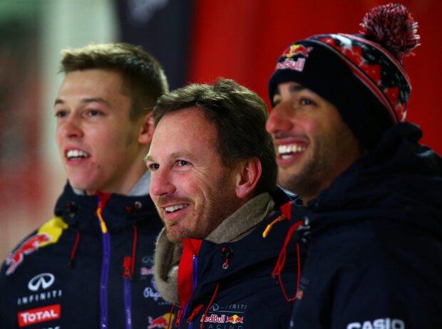 Daniil Kwjat, Daniel Ricciardo, Christian Horner