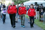 John Booth, Roberto Merhi (Manor Marussia) und Will Stevens (Manor Marussia)