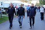 Beat Zehnder, Felipe Nasr (Sauber) und Marcus Ericsson (Sauber)