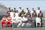 Das Formel-1-Fahrer-Feld zu Beginn der Saison in Melbourne