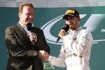 Arnold Schwarzenegger und Lewis Hamilton (Mercedes)