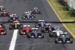 Lewis Hamilton (Mercedes), Nico Rosberg (Mercedes), Felipe Massa (Williams), Kimi Räikkönen (Ferrari) und Sebastian Vettel (Ferrari)