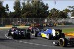 Marcus Ericsson (Sauber) und Sergio Perez (Force India)
