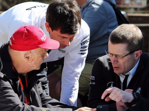 Niki Lauda, Toto Wolff, Andy Cowell
